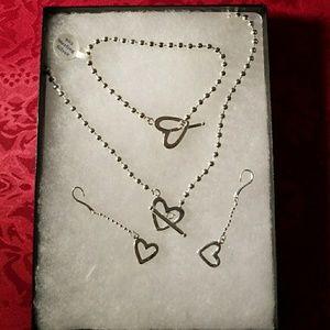 (NWT) Necklace/Crocker Sterling 925 Set